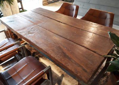 Eetkamertafel mangohout 175×90 cm