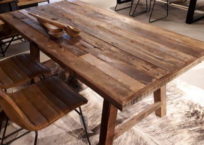 Eetkamertafel mangohout 90×180 cm