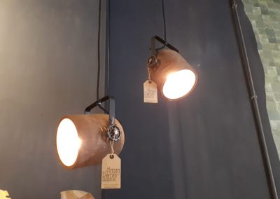 Hanglamp mangohout spot