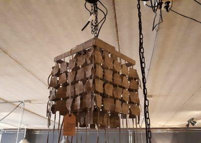Hanglamp suede 30×45 cm
