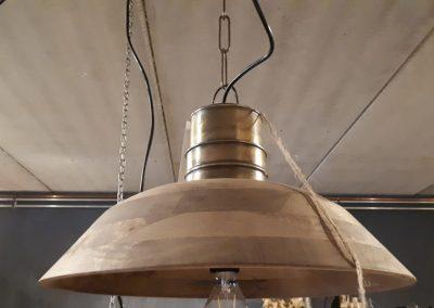 Hanglamp mangohout – metaal
