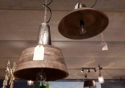 Hanglamp mangohout-metaal